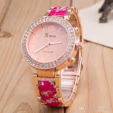 ladies watches bracelet style images Luxury fashion geneva unisex man women imitation diamond watch jpg