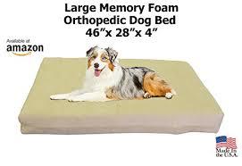australian shepherd kennel size large luxury memory foam orthopedic dog bed large kennel size 46 x