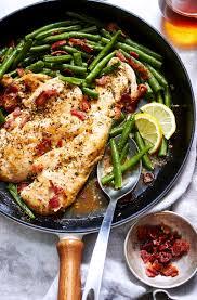 Main Dish Chicken Recipes - garlic lemon chicken and green beans skillet u2014 eatwell101