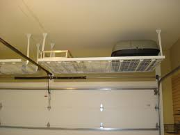 Hanging Shelves From Ceiling by 4x8 Custom Overhead Hanging Garage Storage Rack Shelves With White