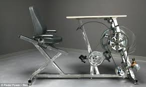 Desk Bike Pedals The Exercise Bike Office Desk Generates Enough Electricity To