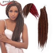 22 inch hair extensions 3x box braids hair crochet 22inch synthetic crochet hair