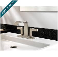 brushed nickel centerset bath faucet f 046 sykk pfister