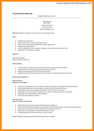 Sample Truck Driver Resume by Sample Truck Driver Resume Template Examples