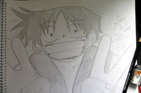 luffy on pencil sketch by jampongarts on deviantart