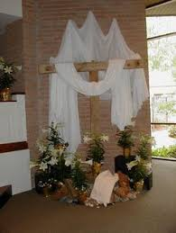 Church Decorations For Easter Sunday by Easter Altar Decorations The Altar Is Made Of Wood And Is In The