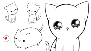 3 ways to draw cute cats youtube