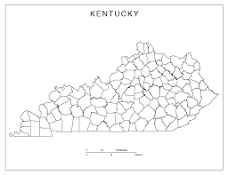 kentucky blank map