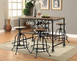 silvia steel dining set the furniture shack discount furniture