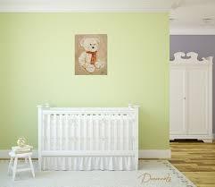 deco ourson chambre bebe gallery of tableau enfant b b valentin l 39 ours en peluche