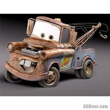 Tow Mater Halloween Costume Disney Cars Tow Mater 3d Model Quality 3d Models