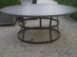 72 round outdoor dining table round concrete table with iron base mecox gardens