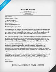 medical assistant cover letter samples cover letter for
