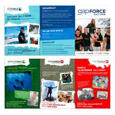 volunteer brochure template brochure design by nic for gap year global volunteer a5