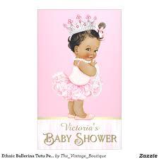 ethnic ballerina tutu pearl baby shower banner ballerina baby