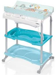 Changing Table With Bath Tub Brevi Babido Changing Table And Bath Tub Blue Br595 017 Price