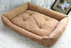 extra large dog bed soft berber fleece puppy cushion kennel winter