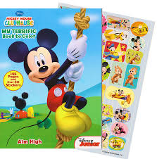 amazon com mickey mouse 144 page coloring and activity book with