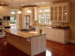 concrete countertops american woodmark kitchen cabinets lighting