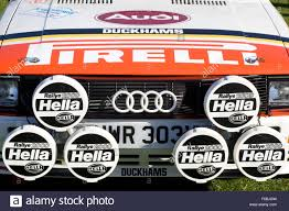audi racing audi racing car with hella headlights and sponsored by pirelle