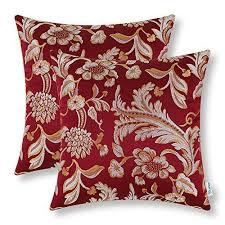 Accent Pillows For Sofa Burgundy Throw Pillows Amazon Com