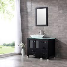36 vessel sink vanity 36 modern bathroom vanity cabinet ceramic vessel sink bowl top w