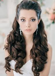 medium hair styles with barettes wedding hair inspiration loose wavy curls pulled back
