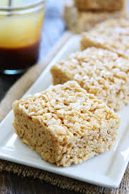 salted caramel rice krispies treats two peas their pod