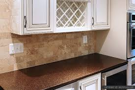 travertine kitchen backsplash travertine subway backsplash brown countertop backsplash tile