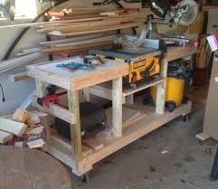 diy table saw stand with wheels diy table saw stand on casters the wolven house project