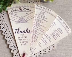 Ceremony Program Fans Wedding Program Fan