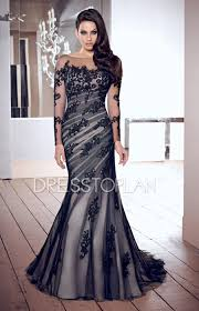 sleeves with appliques black backless wedding guest dress
