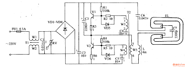 fluorescent lamp electronic ballast control circuit electrical
