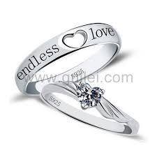 custom jewelry engraving endless cubic zirconia promise rings with custom engraving