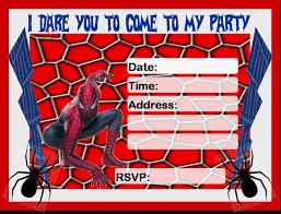 free spiderman party invitation invitations