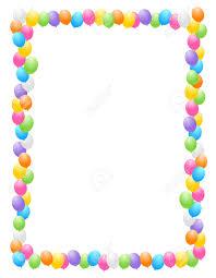 palloncini colorati di frontiera illustrazione cornice per
