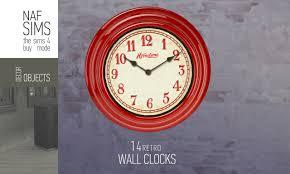 mod the sims 14 retro wall clocks