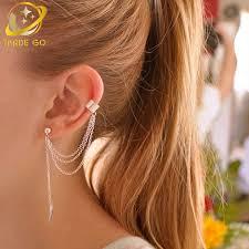 ear wraps and cuffs metal leaf ear cuff clip on earrings earcuff ear cuffs for
