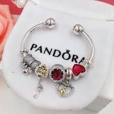 bangle charm bracelet pandora images Pandora open bangle bracelet with 5 pcs charms xingjewelry JPG