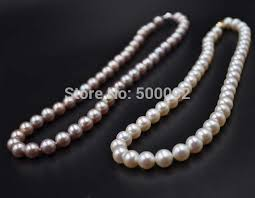 round freshwater pearl necklace images Fine 8 5 9mm near round freshwater pearl necklace white purple jpg