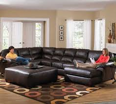 cozy leather sectional sofa for living room home design ideas 2017