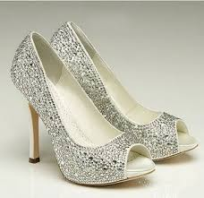 sparkly shoes for weddings wedding collections sparkling bridal shoes sparkly peep toe