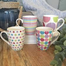 Ceramic Coffee Mugs Set Of 4 Pastel Coffee Mug Set Mugs Set Ceramic Coffee Cups Mugs
