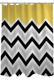 Gray Chevron Shower Curtain Chic U0026 Affordable Yellow And Gray Shower Curtains Sassy Dealz