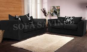 new alexa chenille sofa set with scatter cushions black and silver
