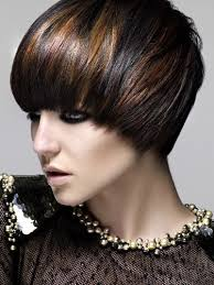 best highlights for pixie dark brown hair blending in growing out pixie dark brown with copper highlights
