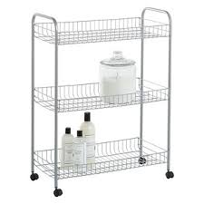 Bathroom Storage Cart by Slim Rolling Storage Carts The Container Store