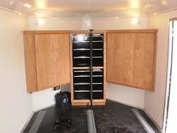 Custom Tool Cabinet R And P Carriages Enclosed Trailer Cabinet Options