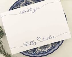 thank you note cards etsy