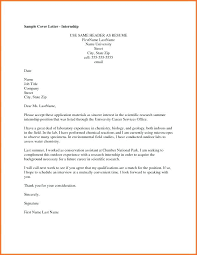 cover letter internship sle cover letters for internships sle cover letter internship